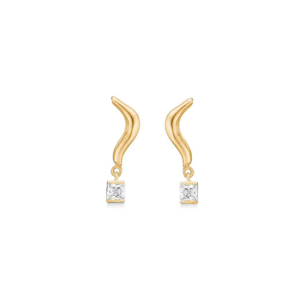 Santina Wave Zirconia Stick Gold