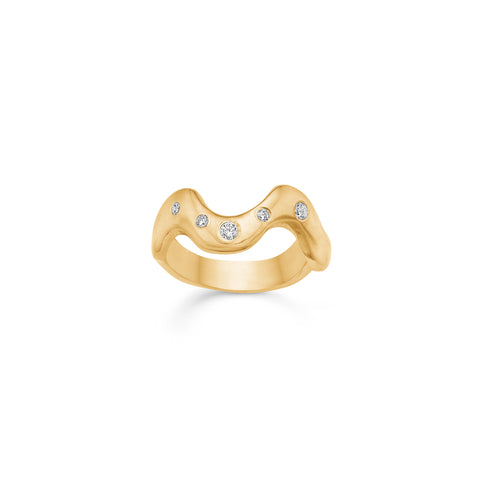 Santina Ocean Zirconia Ring Gold