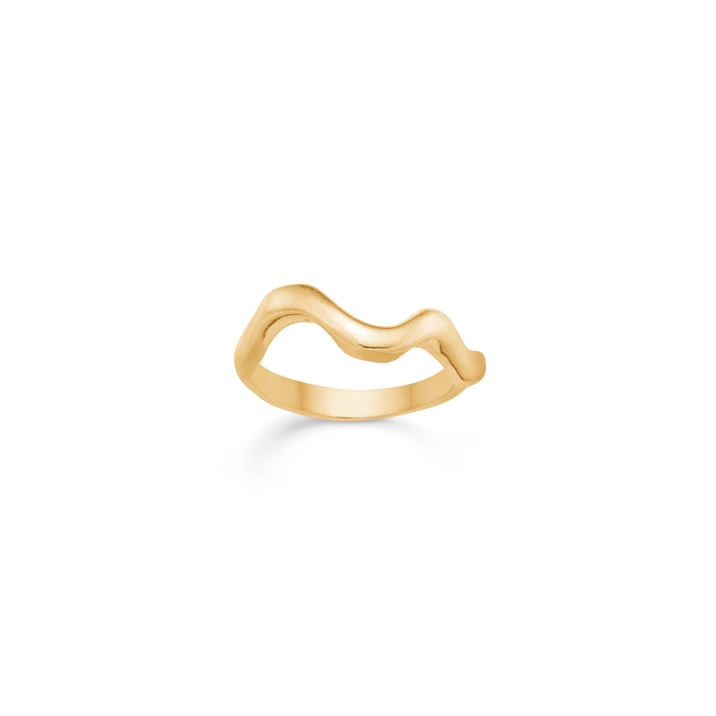 Santina Wave Ring Gold