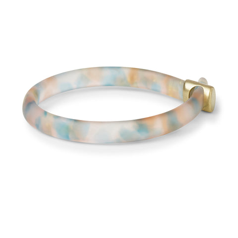 One off Loop Bangle with 9ct gold