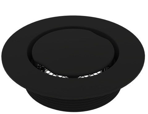 "BCS.100.33 - 4"" Serenity Round Shower Drain Top - Matte Black"