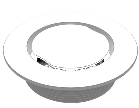 "BCS.100.44 - 4"" Serenity Round Shower Drain Top - White"