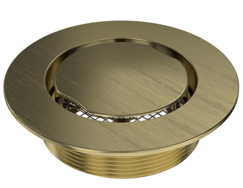 "BCS.100.88 - 4"" Serenity Round Shower Drain Top - Brushed Gold"