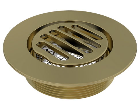"BCS.150.88 - 4"" Serenity Round Shower Drain Top - Brushed Gold"