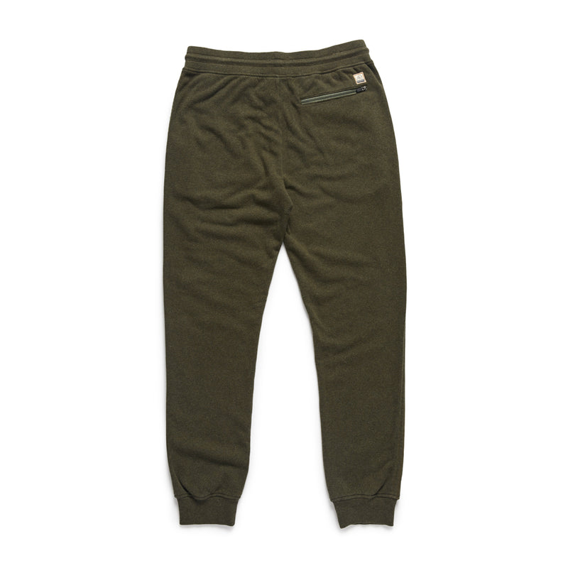 Brushed Cotton Heathered Jogger - Thyme Heather