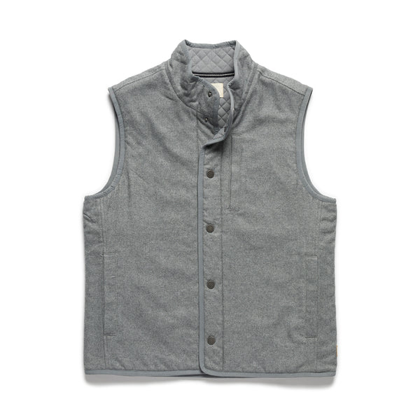 Big & Tall Brushed Twill Vest - Grey