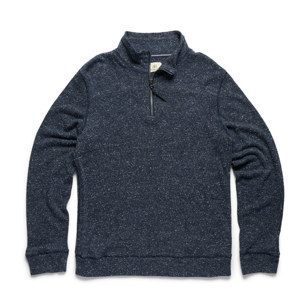 Big & Tall Donegal Zip Mock Sweater - Navy Heather
