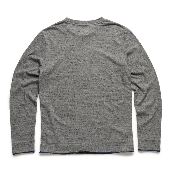 Big & Tall Bicolor Crewneck - Speckled Grey