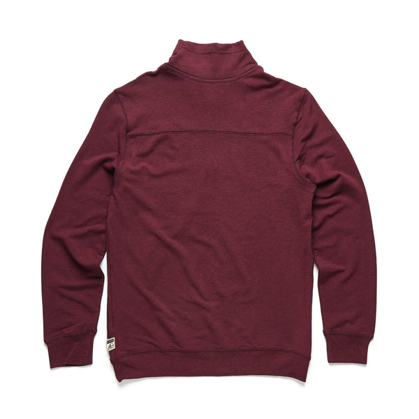 Brushback Fleece Zip Mock - Fig