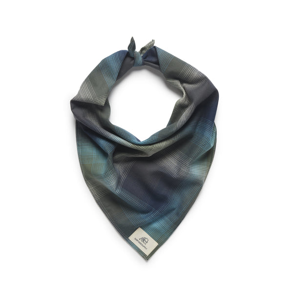 ACCESSORIES - Plaid Bandana Face Covering - Storm Blue
