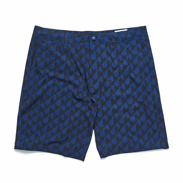 AMPHIBIAN - 4way Stretch Ikat Amphibian Short - Navy Blazer