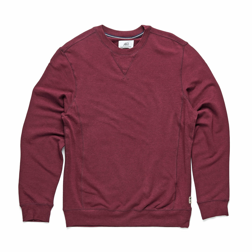 FLEECE - Brushback Fleece Crewneck - Fig Heather