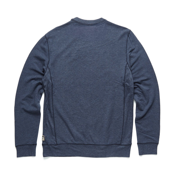 FLEECE - Brushback Fleece Crewneck - Navy Heather
