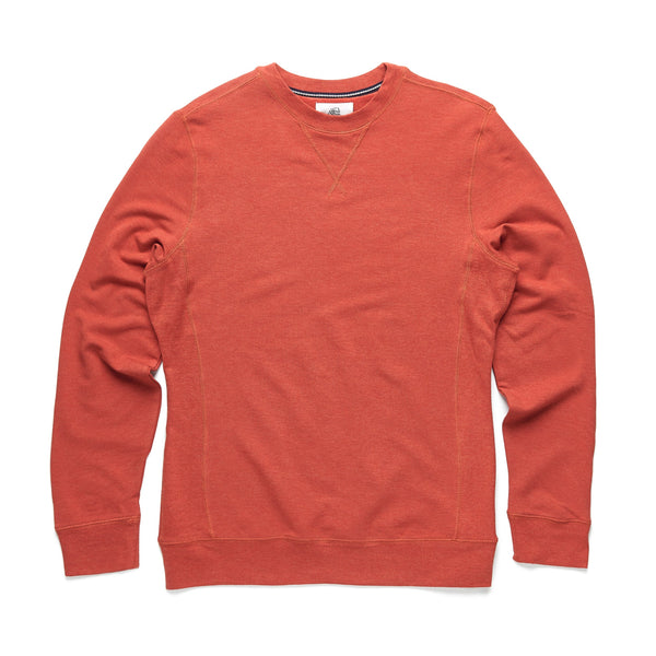 FLEECE - Brushback Fleece Crewneck - Orange Heather