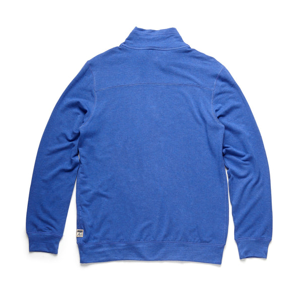 FLEECE - Brushback Fleece Zip Mock - Dazzling Blue
