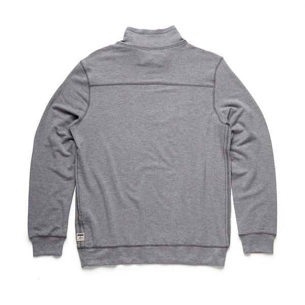FLEECE - Brushback Fleece Zip Mock - Heather Grey