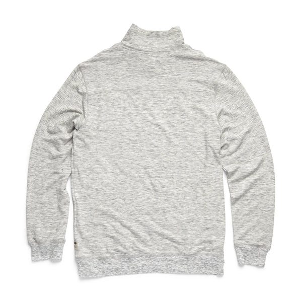 FLEECE - Brushback Fleece Zip Mock - Light Heather Grey