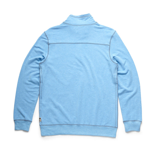 FLEECE - Brushback Fleece Zip Mock - Milky Blue