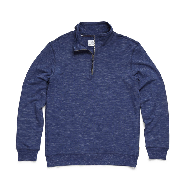 FLEECE - Brushback Fleece Zip Mock - Navy Heather