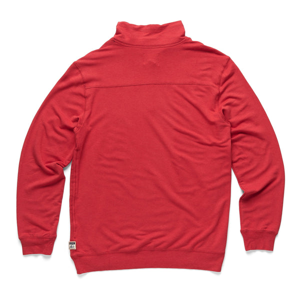 FLEECE - Brushback Fleece Zip Mock - Red Heather