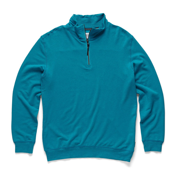 FLEECE - Brushback Fleece Zip Mock - Turkish Heather