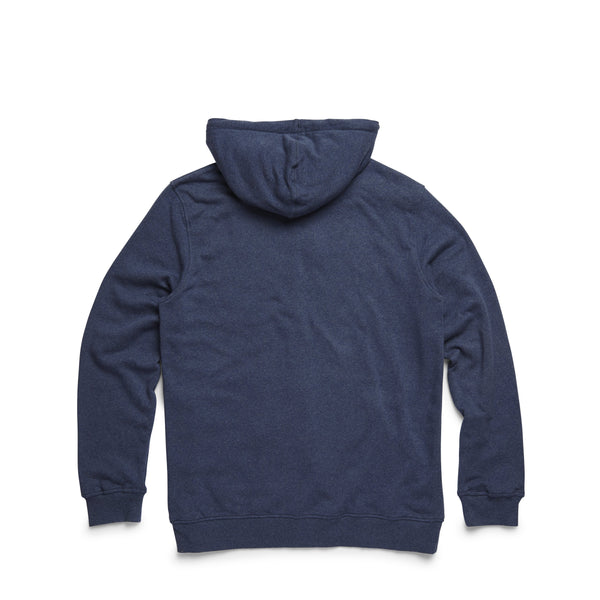 FLEECE - Full-Zip Soft Heather Hoodie - Indigo Blue Heather