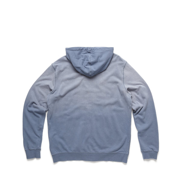 FLEECE - Garment Dyed Faded Hoodie - Flint