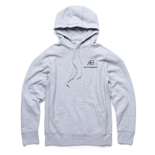 FLEECE - Heavy Fleece Jimmy Pullover - Heather Grey