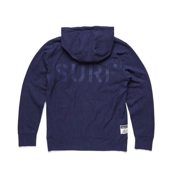 FLEECE - Heavy Fleece Jimmy Pullover - Navy Blazer