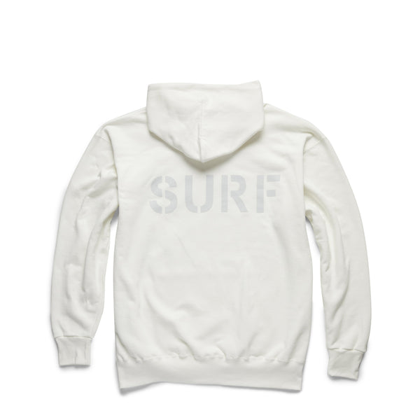 FLEECE - Heavy Fleece SURF Pullover - White