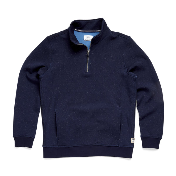 FLEECE - L/S Bonded Fleece Zip Mock - Navy Heather