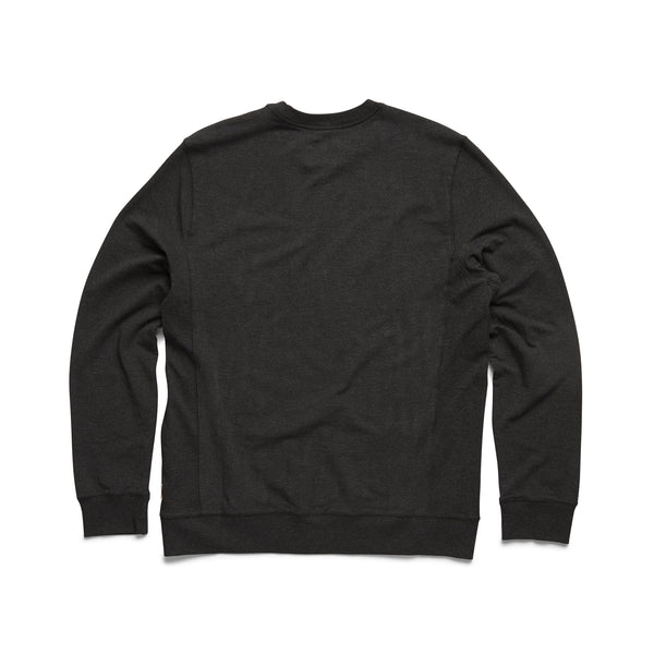 FLEECE - L/S Brushback Soft Fleece Crewneck - Charcoal Heather