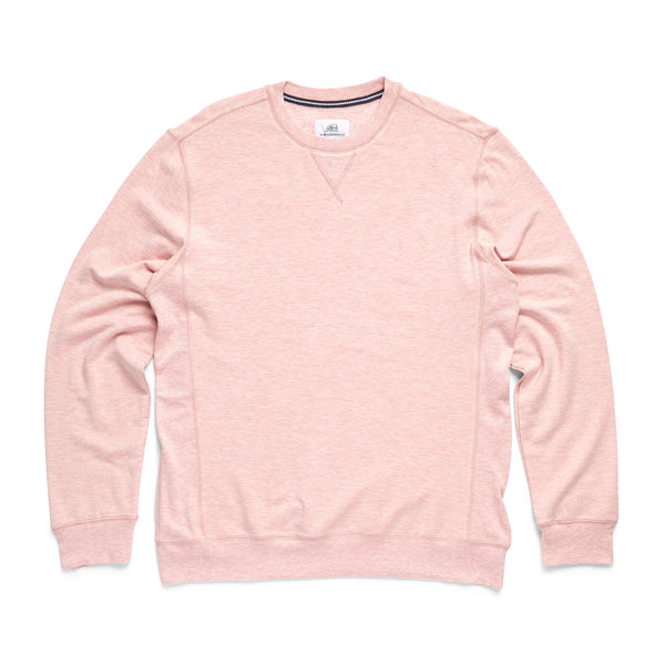 FLEECE - L/S Brushback Soft Fleece Crewneck - Malaga Heather