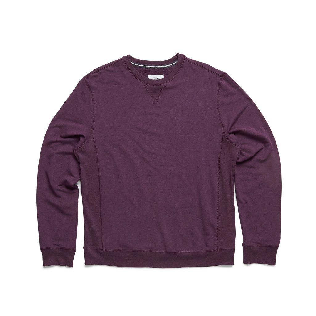 FLEECE - L/S Brushback Soft Fleece Crewneck - Wineberry Heather