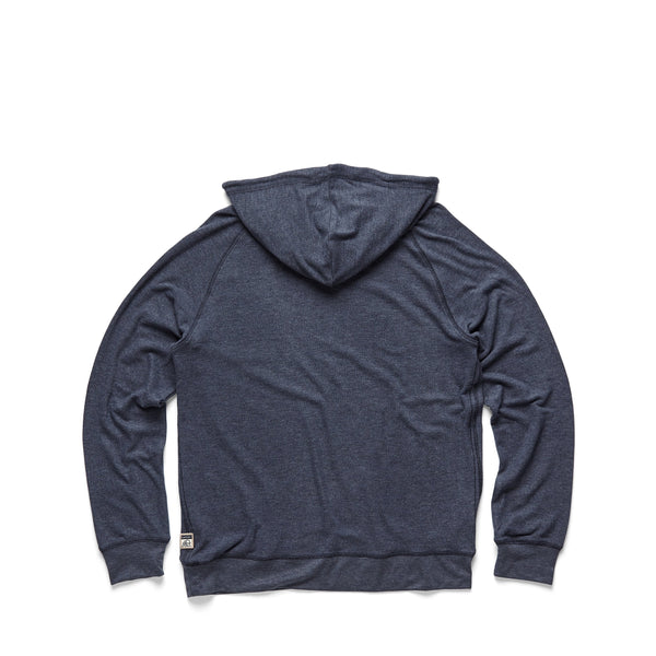 FLEECE - L/S Soft Popover Hoodie - Navy Heather