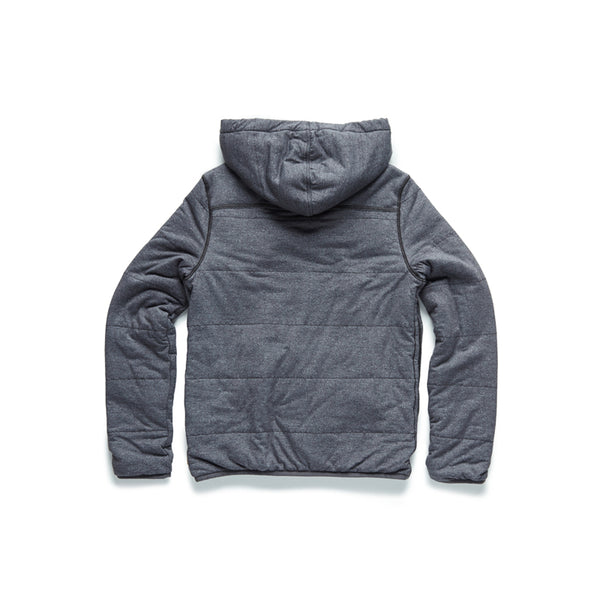 Quilted Zip Plush Hoodie - Charcoal Heather - Surfside Supply Co.  - 2