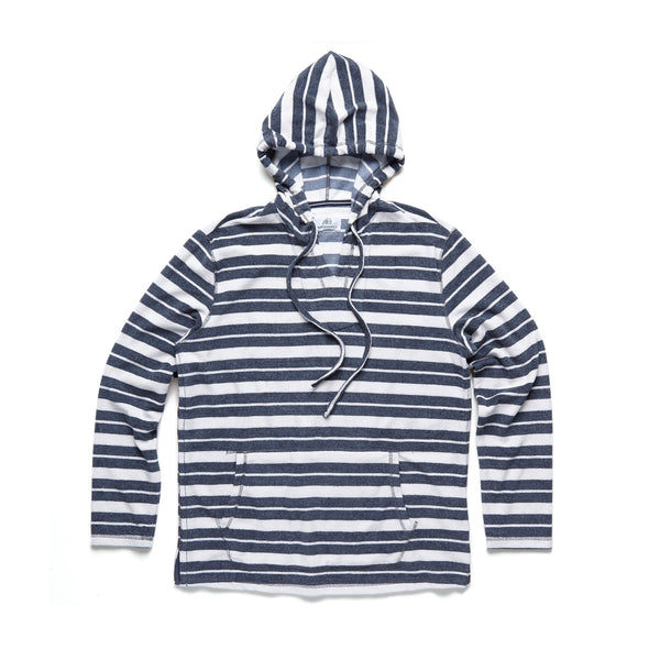 FLEECE - Saltwater Terry Baja Hoodie - Blue Granite
