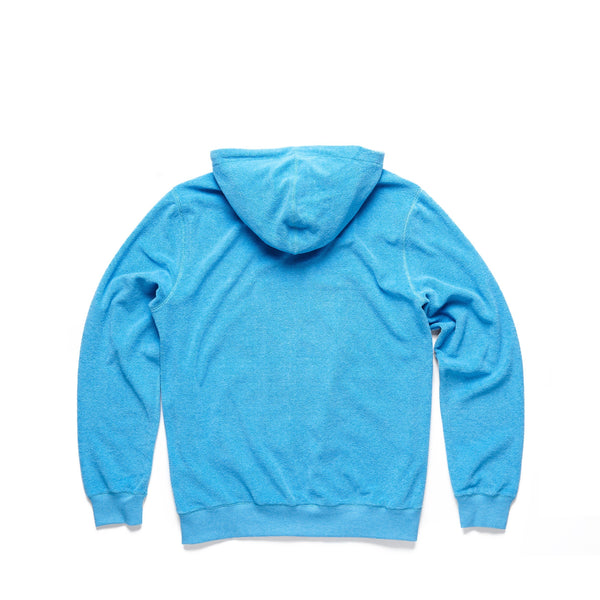 FLEECE - Saltwater Terry Full Zip Hoodie - River Blue