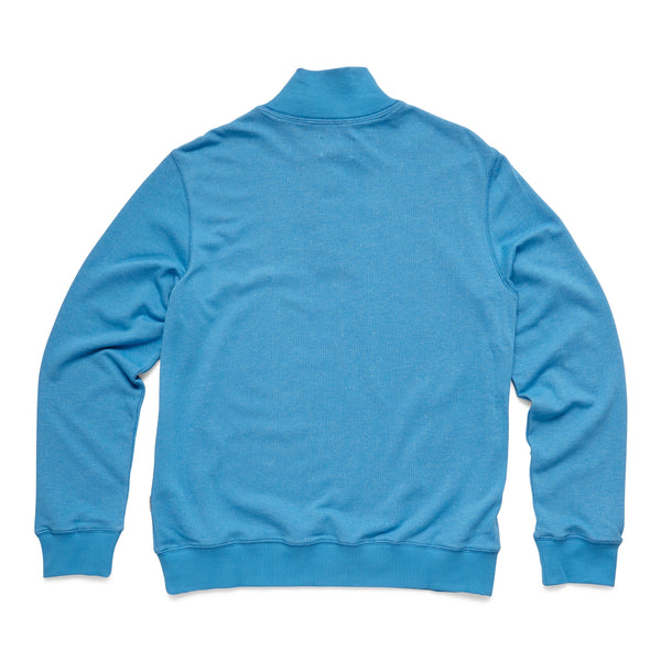 FLEECE - Soft Terry Fleece Zip Mock - Cendre Blue