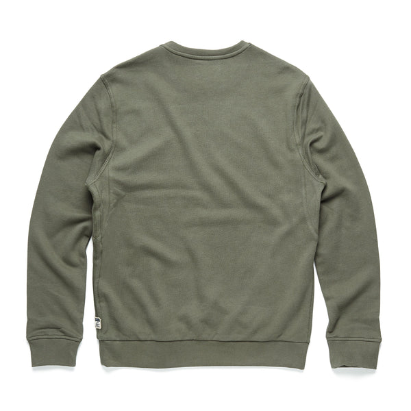 FLEECE - Suede Fleece Crewneck - Beetle Green