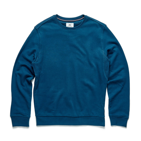 FLEECE - Suede Fleece Crewneck - Poseidon