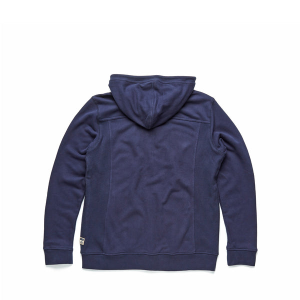 FLEECE - Suede Fleece Hoodie - Navy Blazer