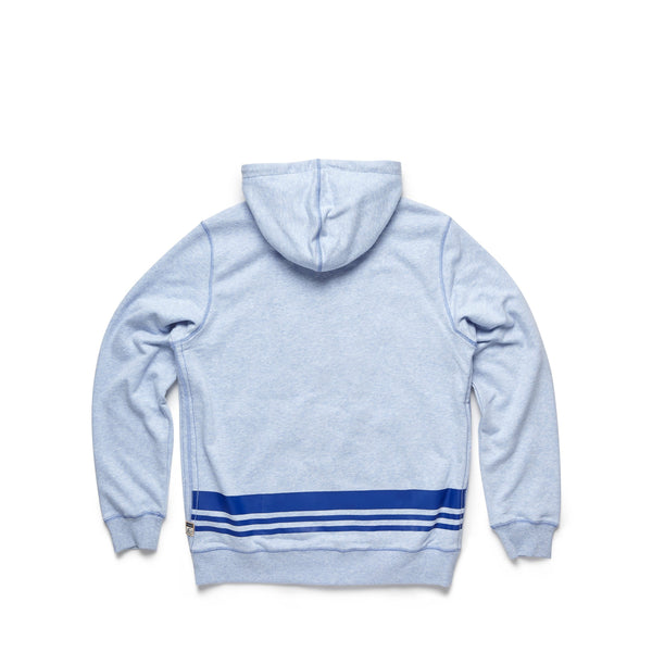 FLEECE - Two Tone Fleece Terry Hoodie - Blue Heather