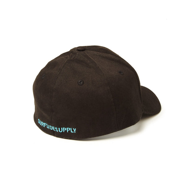 Flex Fit Wave Logo Hat - Black/Teal - Surfside Supply Co.  - 2
