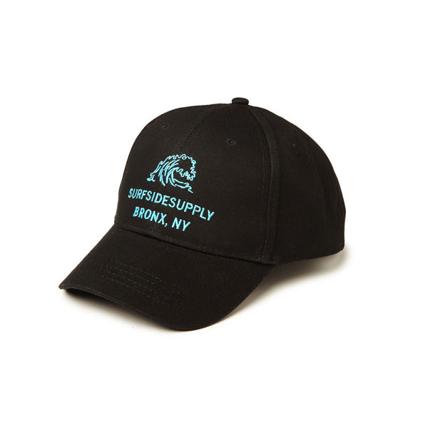 Full Twill Adjustable Hat - Black/Teal - Surfside Supply Co.  - 1