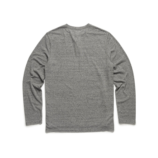 HENLEYS - Boys Classic Melange Henley - Grey Speckled Heather