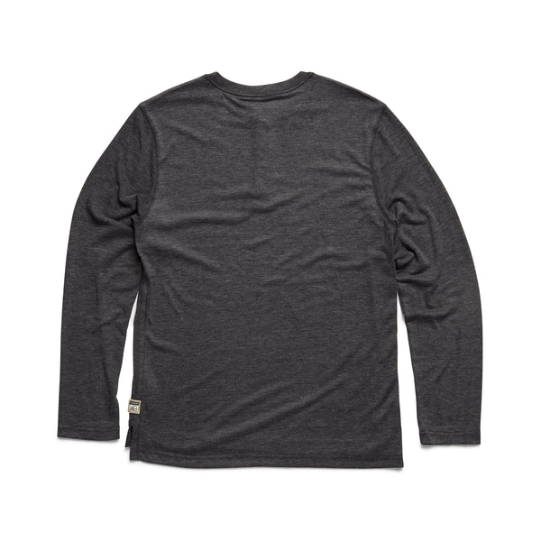 HENLEYS - L/S Classic Henley - Charcoal