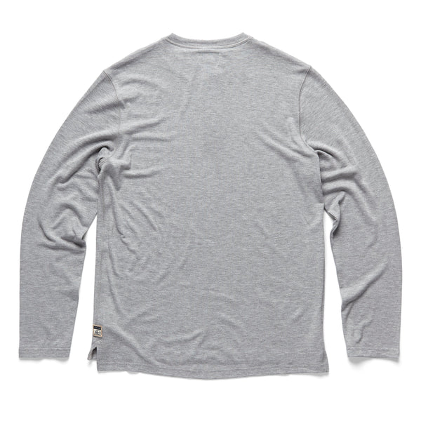 HENLEYS - L/S Classic Henley - Grey Heather