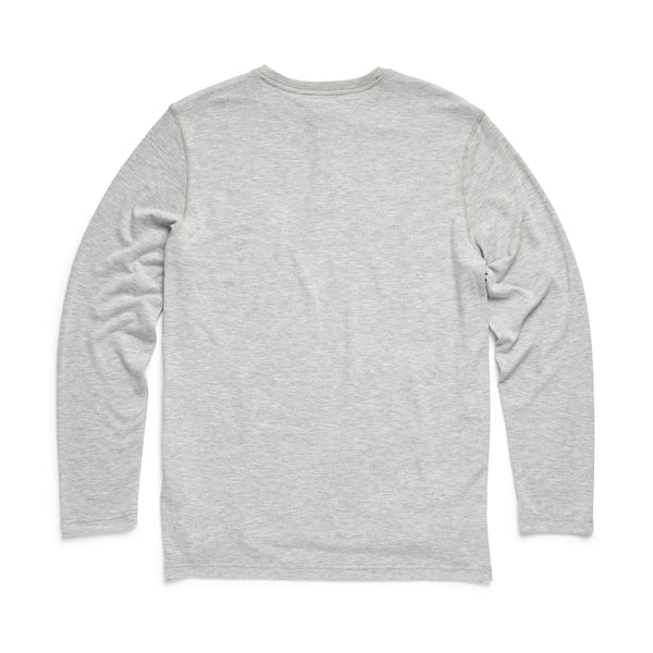 HENLEYS - L/S Classic Henley - Heather Grey