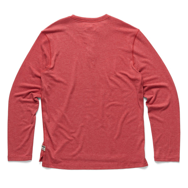 HENLEYS - L/S Classic Henley - Red Heather